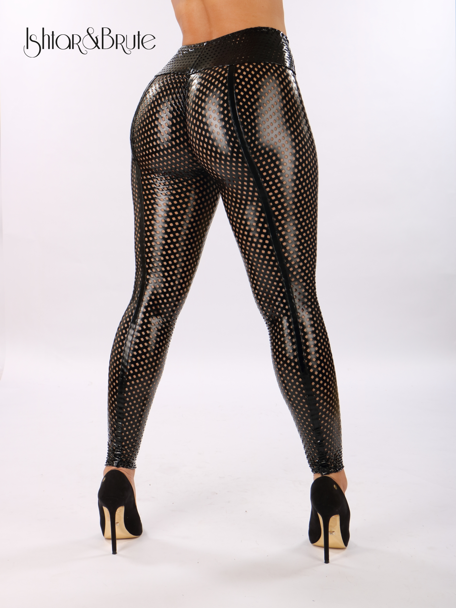 bad0879de27a6 Cheeks legging in black PU mesh