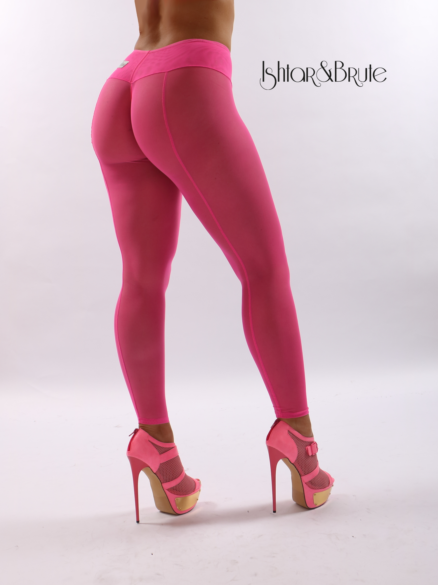 efe70e324ada0 fashion : Cheeks leggings in pink Mesh