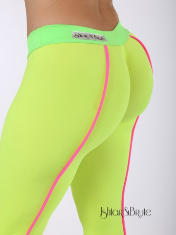 Cheeks leeging in yellow neon spandex 10