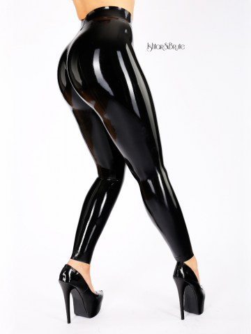 Cheeks leggind in black Latex 1