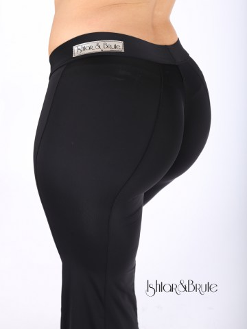 Cheeks pants with wide legs in black spandex 11
