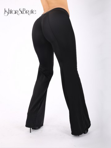 Cheeks pants with wide legs in black spandex 3