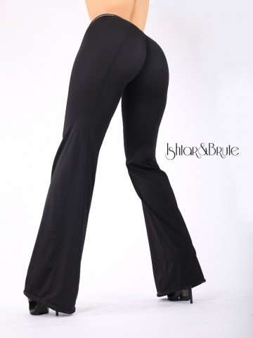 Cheeks pants with wide legs in black spandex 7