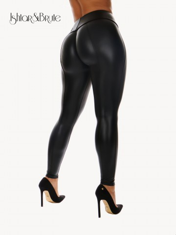 Ishtar and Brute Cheeks pants seamless front black leatherette 1
