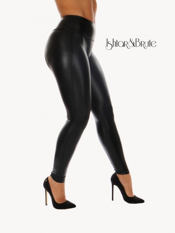 Ishtar and Brute Cheeks pants seamless front black leatherette 3