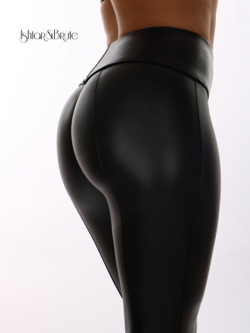 Ishtar and Brute Cheeks pants seamless front black leatherette 6