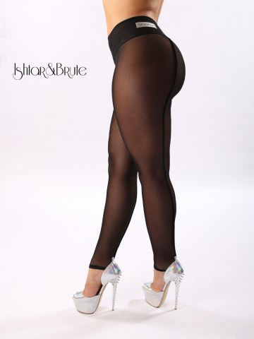 Ishtar and Brute cheeks legging in black mesh 2