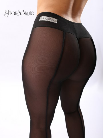 Ishtar and Brute cheeks legging in black mesh 4