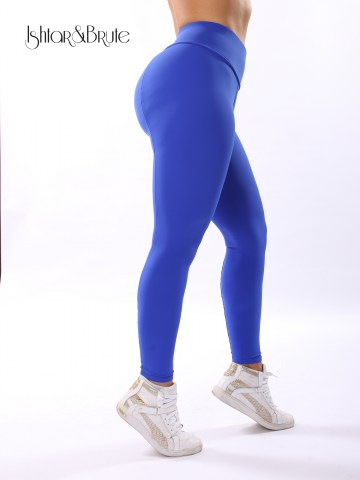 Ishtar and Brute cheeks legging in blue matt spandex 2