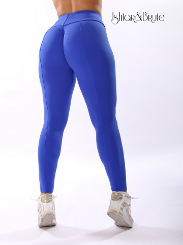 Ishtar and Brute cheeks legging in blue matt spandex 3