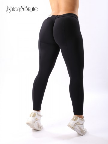 cheeks legging in black matt spandex 2