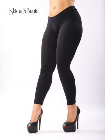 cheeks legging in black matt spandex 6