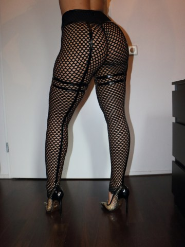 67daff00d9896 Cheeks leggings in big hole Mesh and PU accent