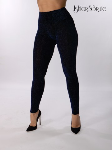 ishtar and brute black spandex with blue lame cheeks leggings 1