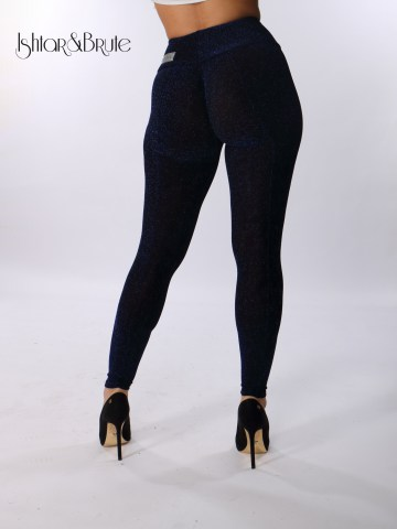 ishtar and brute black spandex with blue lame cheeks leggings 3
