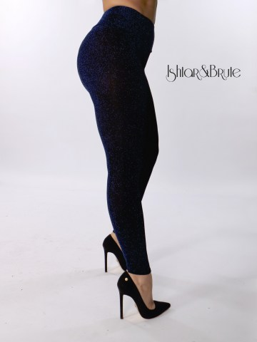 ishtar and brute black spandex with blue lame cheeks leggings 4