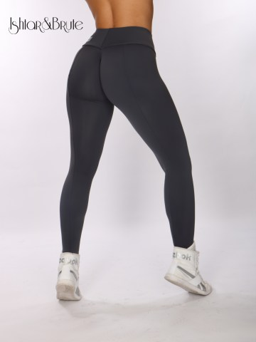 ishtar and brute cheeks legging in grey matt spandex 1