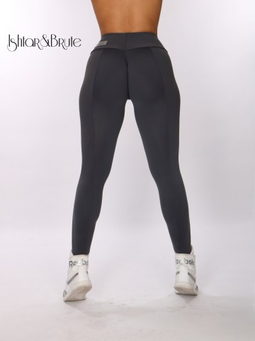 ishtar and brute cheeks legging in grey matt spandex 4