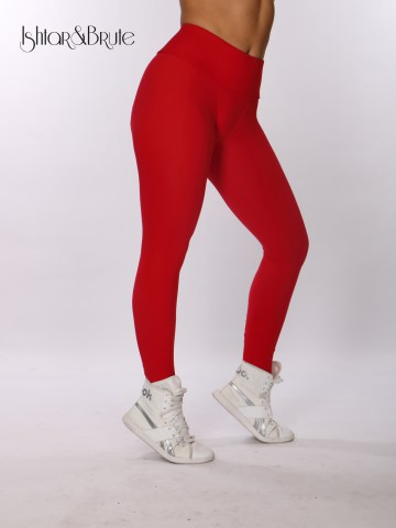 ishtar and brute cheeks legging in red matt spandex 1