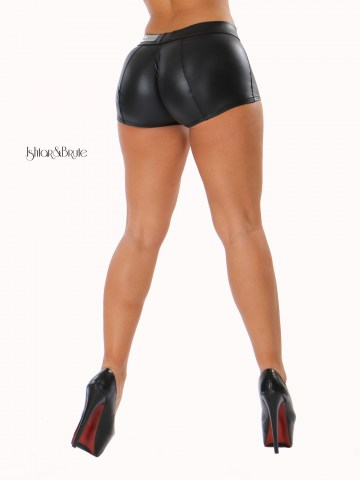 ishtar and brute leatherette short low rise 2