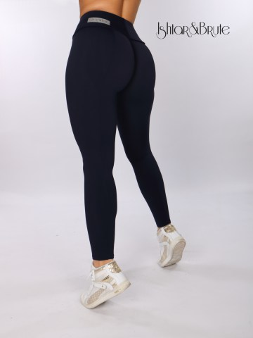 ishtar and brute navy blue matt spandex cheeks leggings 1