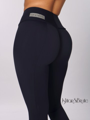 ishtar and brute navy blue matt spandex cheeks leggings 2
