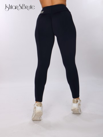 ishtar and brute navy blue matt spandex cheeks leggings 4